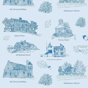 Blue Stratford Toile