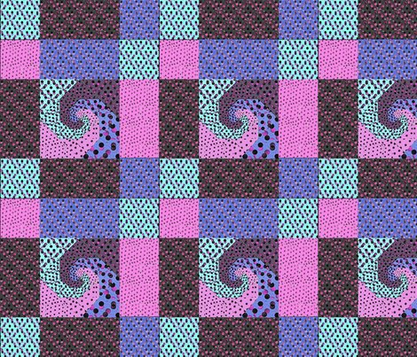 Rsnails_trail_80ies_pink_and_violet_retro_colors_quilt_with_borders_shop_preview