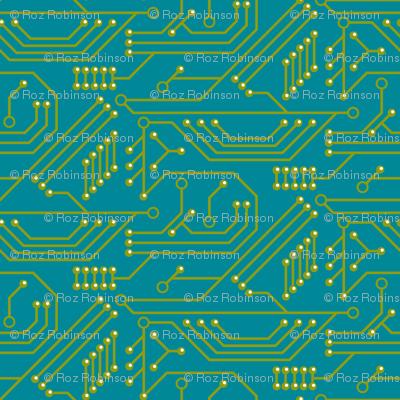 Robot coordinates - circuit board - teal