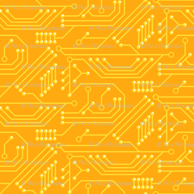 Robot coordinates - circuit board - yellow