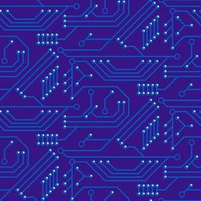 Robot coordinates - circuit board - dark blue