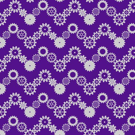 Robot coordinates - cog chevron - purple fabric by coggon_(roz_robinson) on Spoonflower - custom fabric