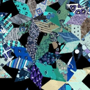 Eight Pointed Star Blocks - Blue