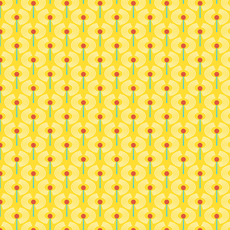 Robot coordinates - antennae - yellow fabric by coggon_(roz_robinson) on Spoonflower - custom fabric