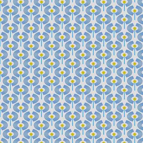 Robot coordinates - antennae - blue fabric by coggon_(roz_robinson) on Spoonflower - custom fabric