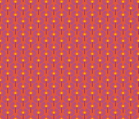 Robot coordinates - antennae - orange fabric by coggon_(roz_robinson) on Spoonflower - custom fabric