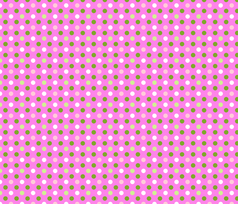 pois fond rose fabric by nadja_petremand on Spoonflower - custom fabric