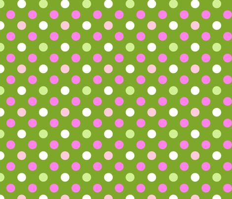 pois fond vert fabric by nadja_petremand on Spoonflower - custom fabric