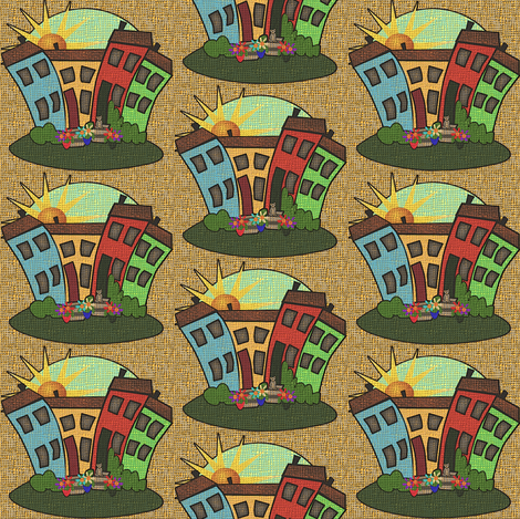 a_beautiful_day_in_the_neigborhood 2 fabric by glimmericks on Spoonflower - custom fabric