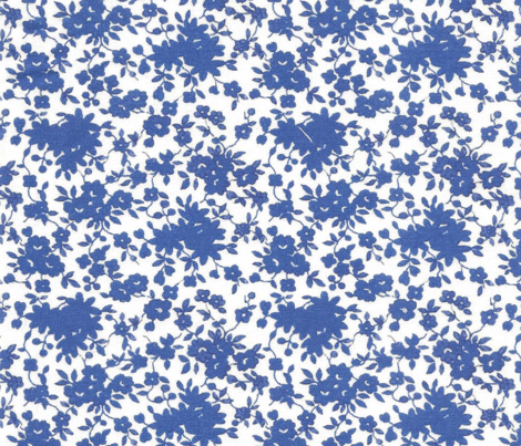 Tiny  Monochrome Floral - Blue