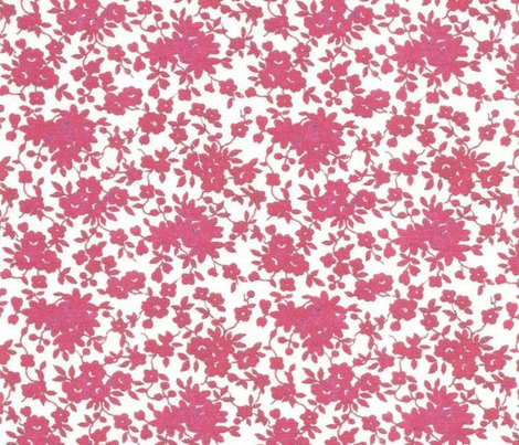 Tiny Monochrome Floral - Red