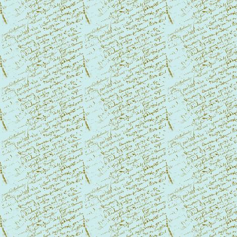Doll House, French Script fabric by karenharveycox on Spoonflower - custom fabric