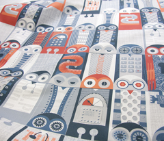 Tin Pot Owl-Bot Cheater Quilt