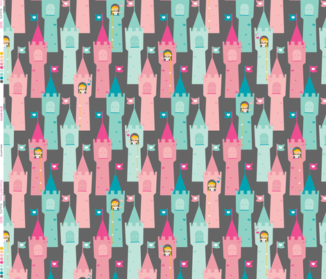 Dragon Girl Towers fabric by zesti on Spoonflower - custom fabric