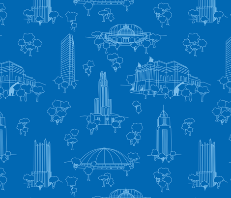 Pittsburgh Toile fabric by leighr on Spoonflower - custom fabric