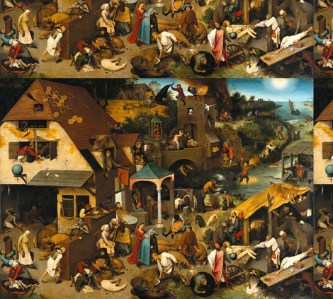 netherlandish proverbs fabric by mossbadger on Spoonflower - custom fabric