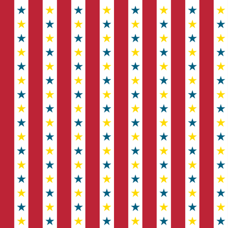 Circus Stripes || stars carnival baby nursery children primary colors fabric by pennycandy on Spoonflower - custom fabric