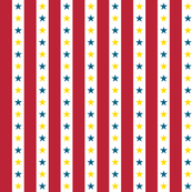 Circus Stripes || stars carnival baby nursery children primary colors