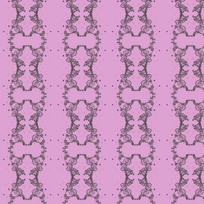 Rose clusters - grey on pink