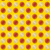 Circus Wheels (Yellow) || carnival fair starburst flowers polka dots children baby nursery