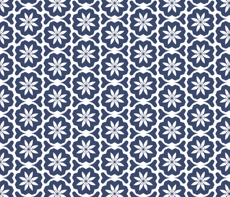 delft_dutch_flowers fabric by holli_zollinger on Spoonflower - custom fabric