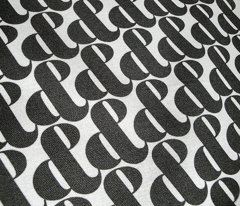 Etcetera, etc. (Black on White) || black and white ampersands typography type houndstooth