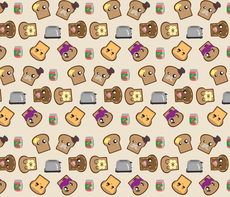 Geometric Toast fabric by kikofleece on Spoonflower - custom fabric