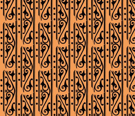 tangerine scroll fabric by nalo_hopkinson on Spoonflower - custom fabric