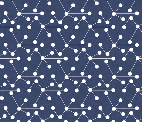 delft_molecules fabric by holli_zollinger on Spoonflower - custom fabric