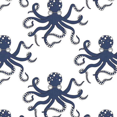 delft_octopus fabric by holli_zollinger on Spoonflower - custom fabric