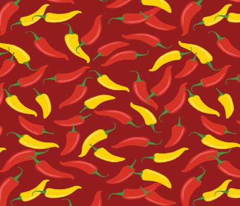 CHILI PEPPERS fabric by bluevelvet on Spoonflower - custom fabric