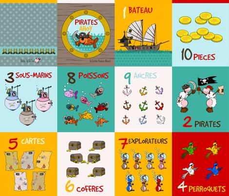 pirate softbook fabric by kallou on Spoonflower - custom fabric