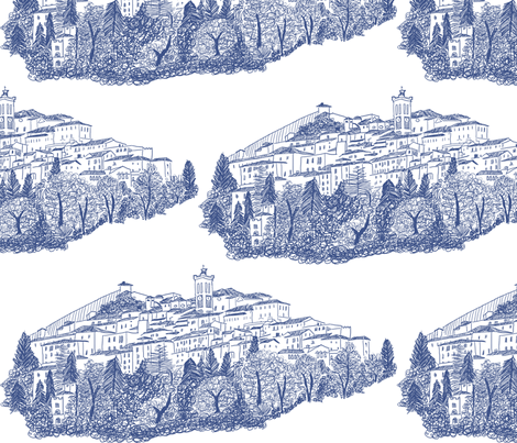 Sacre Monte di Varese fabric by shiny on Spoonflower - custom fabric