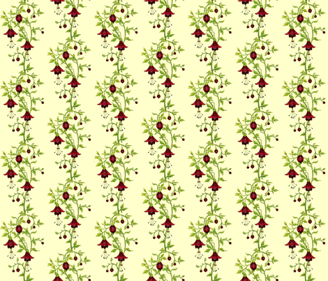 Fuchsia fantasy_red fabric by adranre on Spoonflower - custom fabric