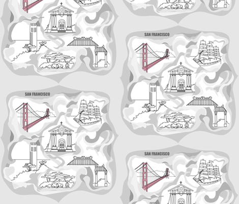 San Francisco Toile fabric by julia_canright on Spoonflower - custom fabric