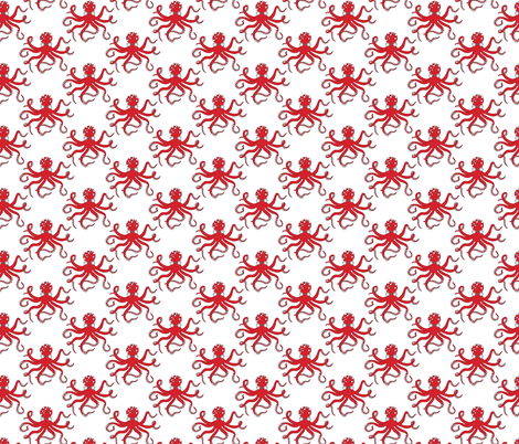red_octopus fabric by holli_zollinger on Spoonflower - custom fabric