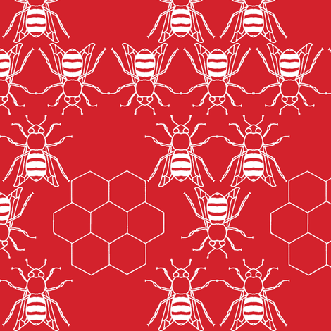 red_honeybee fabric by holli_zollinger on Spoonflower - custom fabric