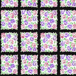 Floral squares - Purple