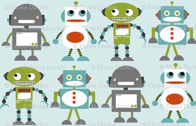 Robot Friends Blue