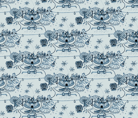 the happiest town on earth fabric by cheyanne_sammons on Spoonflower - custom fabric