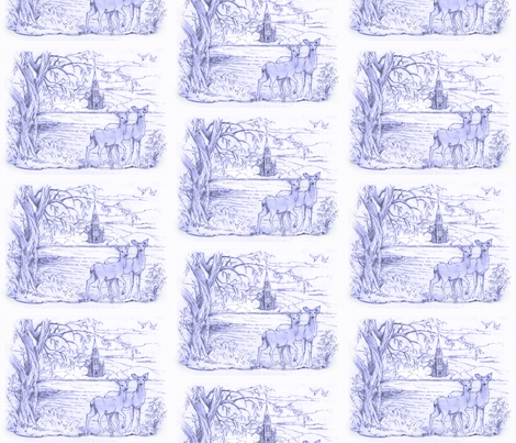 Lake of Two Mountains fabric by joanna_olson on Spoonflower - custom fabric
