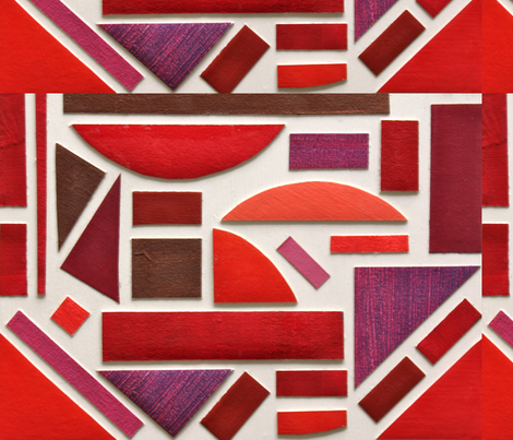 Red Geometry fabric by jamesmelcher on Spoonflower - custom fabric