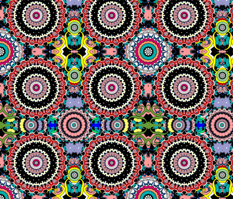 Psychedelic Doily Dance Party fabric by beesocks on Spoonflower - custom fabric