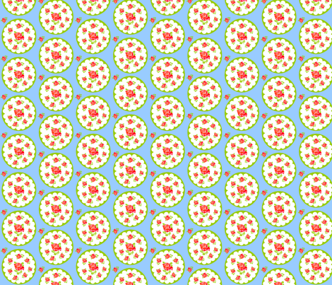 Spring flowers blue fabric by rosapomposa on Spoonflower - custom fabric