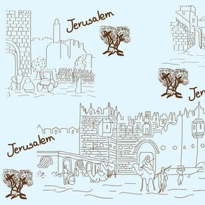 jerusalem toile de jouy