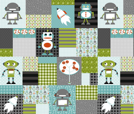 Robots Cheater quilt LG fabric by natitys on Spoonflower - custom fabric