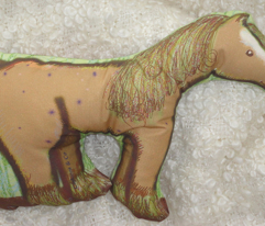 My own brown pony cushion