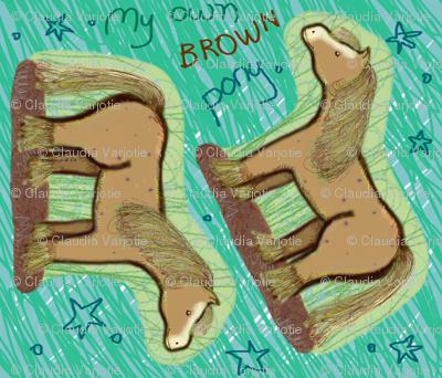 My own brown pony cushion