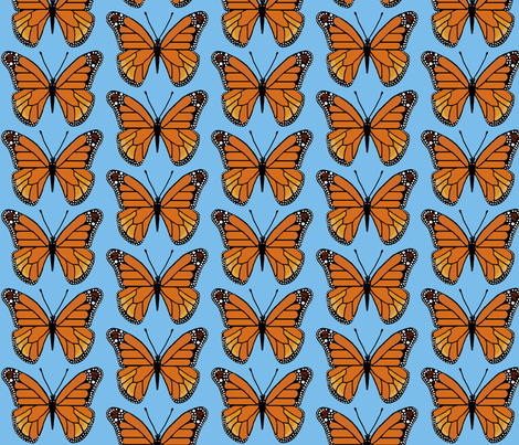 butterfly blue fabric by paragonstudios on Spoonflower - custom fabric