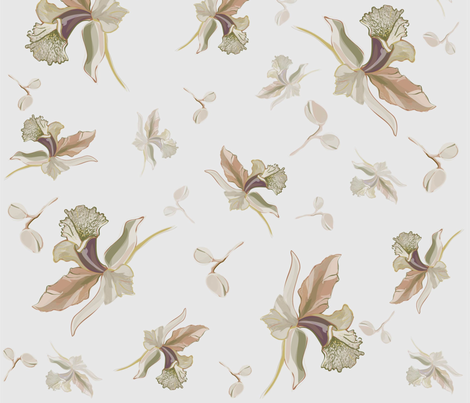 Delicate Ornate Flower fabric by twosister42 on Spoonflower - custom fabric